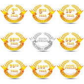 Anniversary Celebration Badge — Vector de stock