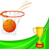 Basketball with Trophy — Stock Vector
