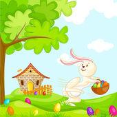 Wielkanocne króliczki — Wektor stockowy