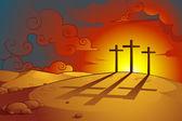 Jesus Christs Crucifixion — Stock Vector