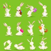 Easter Bunnies — Stock Vector