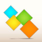 Origami Paper Infographics — Stock Vector