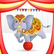 Elephant in Circus — Stock Vector