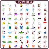 Icono de vacaciones colorido — Vector de stock