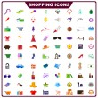 Colorful Shopping Icon — Stock Vector