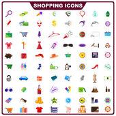 Colorful Shopping Icon — Stock Vector