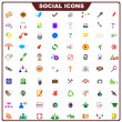 Colorful Social Icon — Stock Vector #24620607
