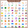 Colorful Education Icon — Stock Vector