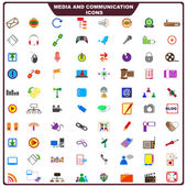 Colorful Media and Communication Icon — Stock Vector