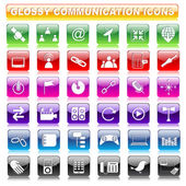 Glossy Communication Button — Stock Vector