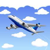 самолет поездки в пункт назначения — Cтоковый вектор