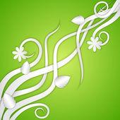 Swirly fond floral — Vecteur