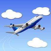 Flygplan resa till din destination — Stockvektor