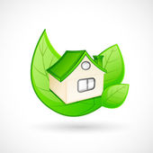 Concetto di casa verde — Vettoriale Stock