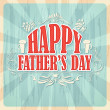 Happy Father's Day Background — Imagen vectorial