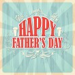Stock Vector: Happy Father's Day Background