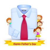 Father's Day Background with Kids — Stock Vector