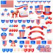 elemento di giorno dell'indipendenza americana — Vettoriale Stock