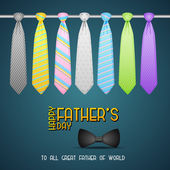Father's Day Background with Tie — Stock Vector
