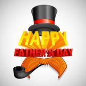 Fondo del día de padre feliz — Vector de stock