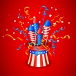Stock Vector: Firecracker from American Flag