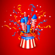 Firecracker from American Flag — Stock Vector #26321865
