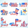 Stock Vector: Fourth of July AmericIndependence Day