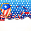 图库矢量图片: American Flag Background