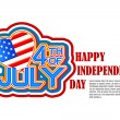 Vector de stock : Fourth of July AmericIndependence Day