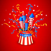 Firecracker from American Flag — Stock Vector