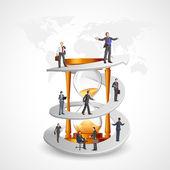 Empresarios en la senda de crecimiento — Vector de stock