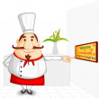 Chef welcoming in Restaurant — Stock Vector