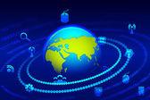 Küresel teknoloji — Stok Vektör