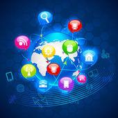 グローバル ・ テクノロジー — ストックベクタ