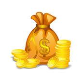 Geld tas — Stockvector