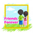 Friends Forever — Stock Vector