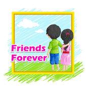 Friends Forever — Stock Vector
