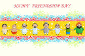 Happy Friendship Day — Stock Vector