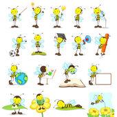 Bee Friends — Stock Vector