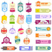 Sale and Promotion Tag — Stock Vector