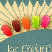 Ice cream Poster — Stock Vector