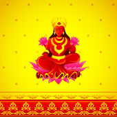 Godess Lakshmi in Diwali — Stock Vector