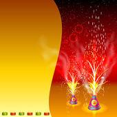 Burning Firecracker in Happy Diwali — Stock Vector
