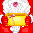 Santa with Christmas Surprise — Stock Vector