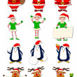 Stock Vector: Christmas Character