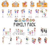 Family Pack — Stock Vector