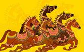 Decorative Horse — Stock Vector