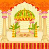 Indian wedding mandap — Stock Vector