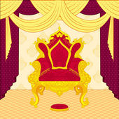 Royal Throne — Stock Vector