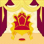 Trono regale — Vettoriale Stock